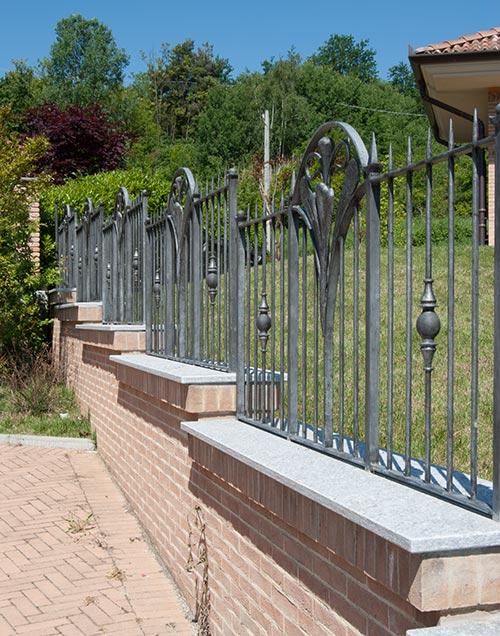 Cancello e cancellata Villa Alice-6