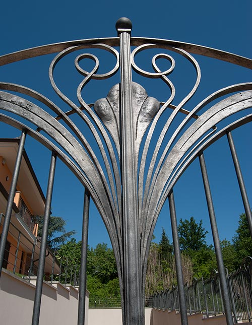 Cancello e cancellata Villa Alice-4