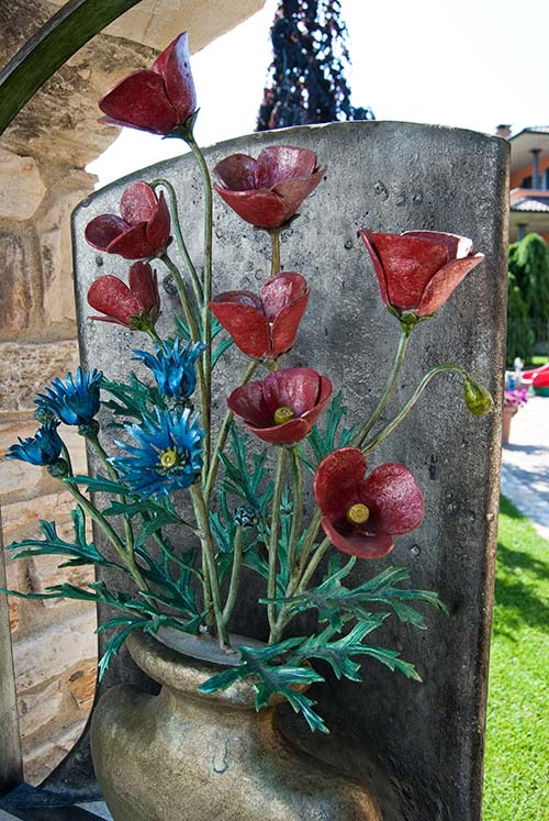 Inserti floreali per vani in muro esterno-4