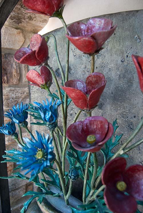Inserti floreali per vani in muro esterno-6