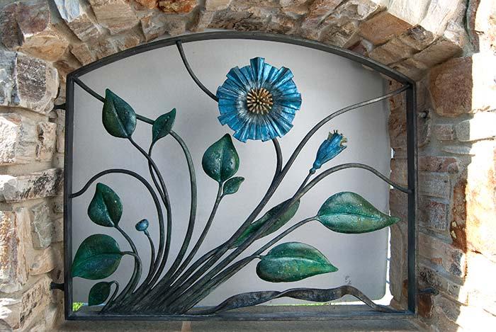 Inserti floreali per vani in muro esterno-0