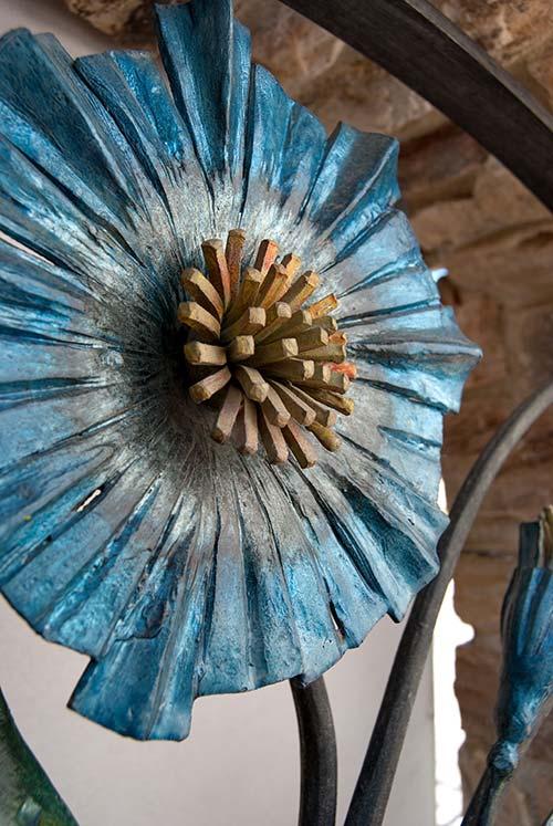 Inserti floreali per vani in muro esterno-3