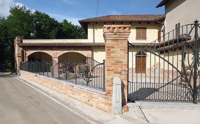 Cancello moderno forgiato-6
