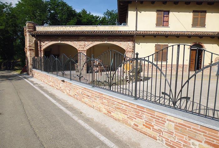 Cancello moderno forgiato-7