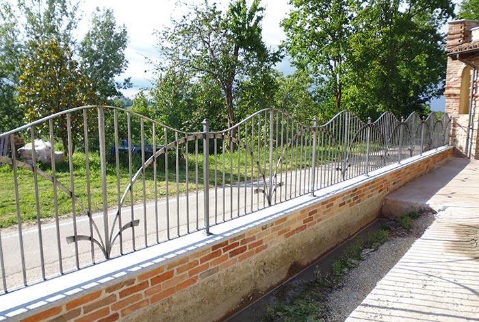 Cancello moderno forgiato-8