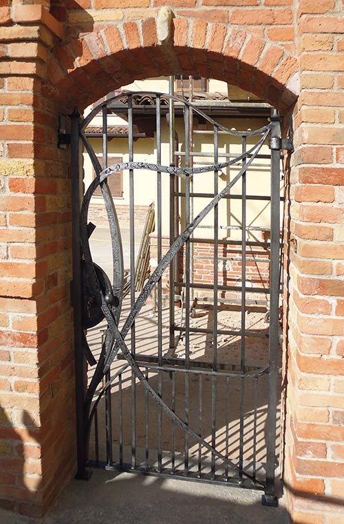 Cancello moderno forgiato-9