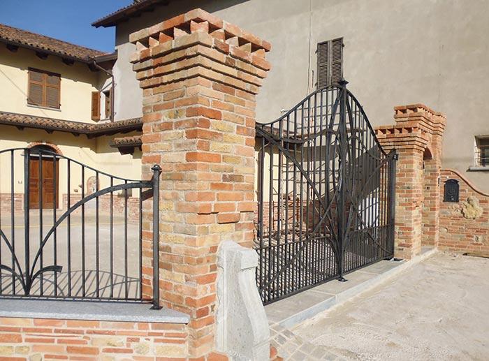 Cancello moderno forgiato-2