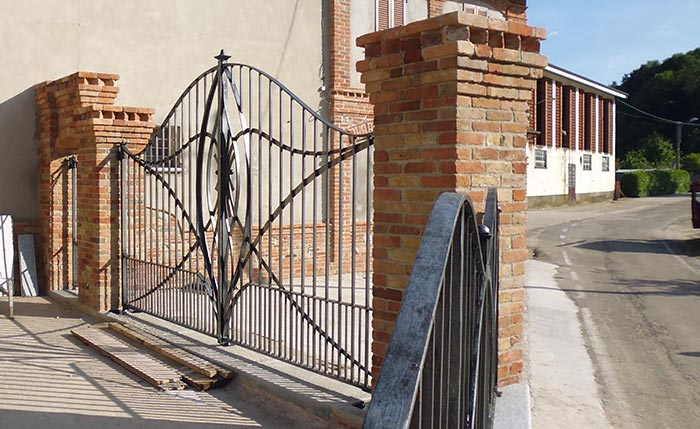 Cancello moderno forgiato-5