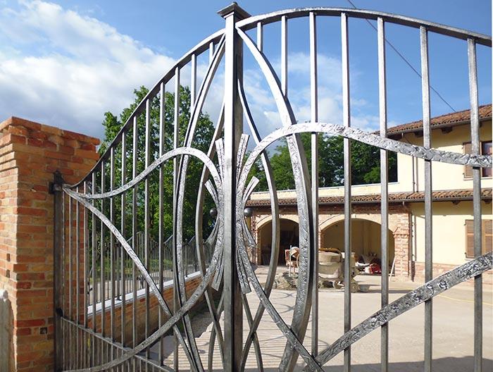 Cancello moderno forgiato-4