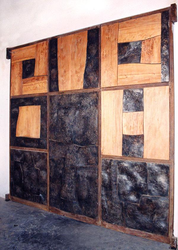 Estremamente Portone in legno e ferro battuto | Scarsi Bernardo JJ47