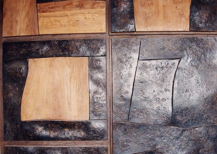 Portone in legno e ferro battuto-2