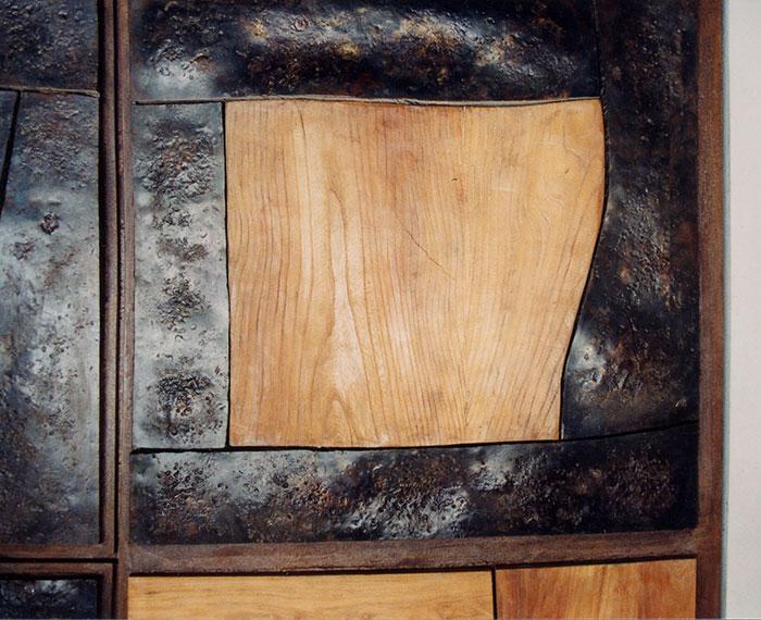 Portone in legno e ferro battuto-5