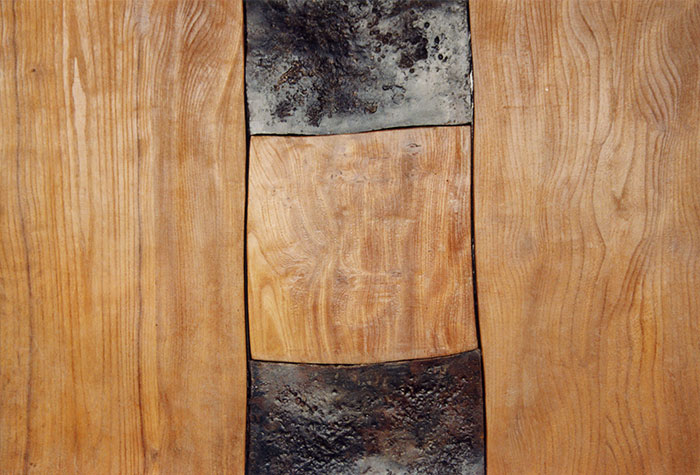 Portone in legno e ferro battuto-4